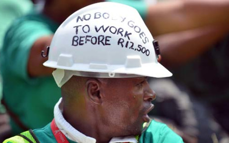 Thousands of miners affiliated to Amcu have been away from work since January. Picture: AFP.