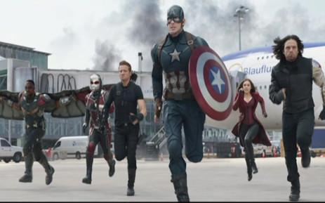 """FILE: """"Captain America: Civil War"""". Picture: Screengrab CNN."""