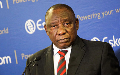 President Cyril Ramaphosa addressing a media briefing on 11 December 2019 on the latest spate of power cuts in the country. Picture: Kayleen Morgan/EWN