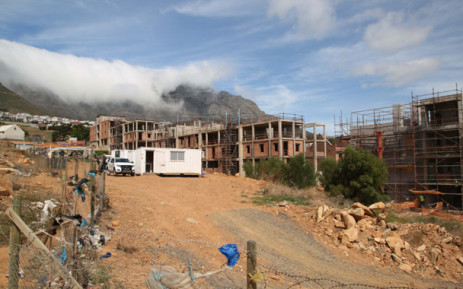 Construction on an apartment complex in District Six. Picture: Bertram Malgas/EWN