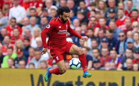 FILE: Liverpool's Mo Salah in action during his team's Premier League clash against West Ham United. Picture: @LFC/Twitter
