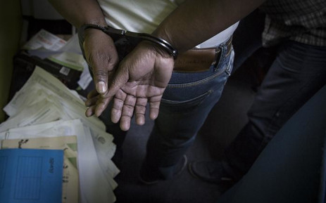 Handcuffs. Picture: Sethembiso Zulu/EWN
