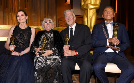Geena Davis, Lina Wertmüller, David Lynch, and Wes Studi attend the Academy Of Motion Picture Arts And Sciences' 11th Annual Governors Awards at The Ray Dolby Ballroom at Hollywood & Highland Center on 27 October 2019 in Hollywood, California. Picture: AFP
