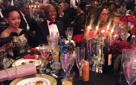 EFF leader Julius Malema and his wife Mantwa during the party's fundraising gala dinner in Pretoria. Picture: Ziyanda Ngcobo/EWN.
