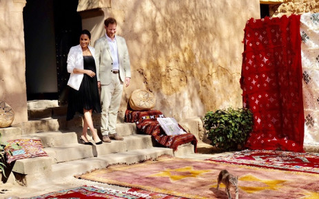 Prince Harry and Meghan in Morocco. Picture: KensingtonRoyal/Twitter