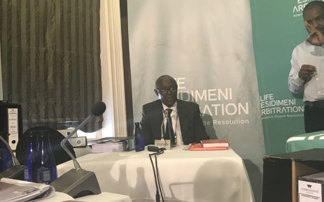 Reverend Joseph Maboe testified at the Esidimeni arbitration process on 19 October 2017. Picture: Masego Rahlaga/EWN