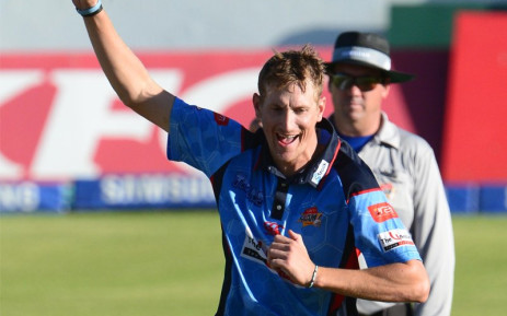 Titans all-rounder Chris Morris celebrates a wicket. Picture: @Titans_Cricket/Twitter