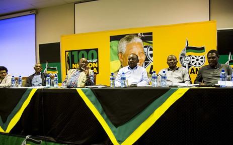 FILE: The ANC top six present at a special NEC meeting. Picture: Kayleen Morgan/EWN