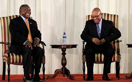 Deputy President Cyril Ramaphosa and President Jacob Zuma. Picture: Sebabatso Mosamo/EWN