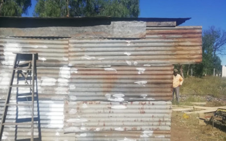 The evicted Graaff-Reinet couple are living with their a family member in a shack. Picture: Supplied