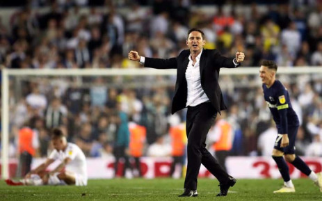 FILE: Former Derby County manager Frank Lampard celebrates his side's win over Leeds to book a place in the Championship Playoff semifinal on 15 May 2019. Picture: @dcfcofficial/Twitter