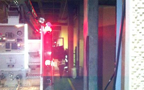 The Isidingo set caught fire on Thursday 14 June 2012. Picture: @Vaneshree via Twitter