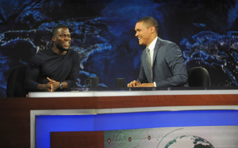 """Trevor Noah hosts Comedy Central's """"The Daily Show with Trevor Noah"""" premiere with guest Kevin Hart on 28 September, 2015 in New York City. Picture: AFP."""
