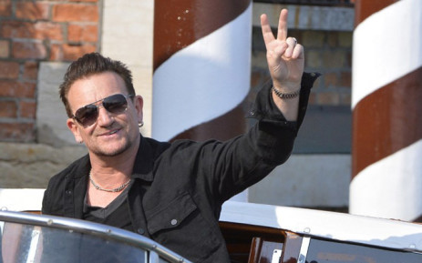 Irish rock singer of the band U2. Picture: AFP.
