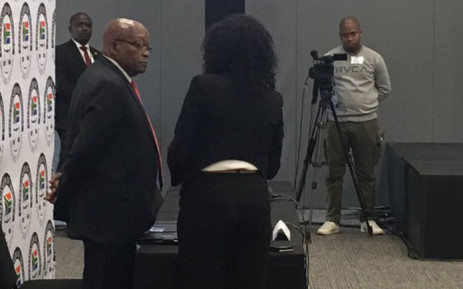 Former President Jacob Zuma appears at the state capture inquiry on 15 July 2019. Picture: EWN