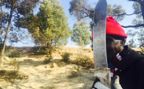 FILE: Locals who rescued the boys say this is the blade used to perform the illegal circumcisions at an illegal initiation school in Meadowlands. Picture: Dineo Bendile/EWN.