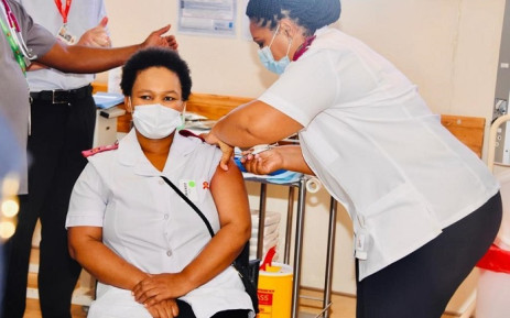 FILE: Nurse Zoliswa Gidi-Dyosi was the first person in South Africa to receive the Johnson & Johnson COVID-19 vaccine on Wednesday, 17 February 2021. Picture: Siya Duda.