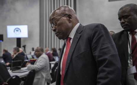 FILE: Former President Jacob Zuma at the state capture commission on 15 July 2019. Picture: Abigail Javier/EWN