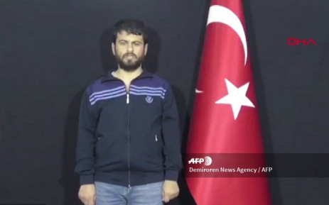 A screenshot taken from a video released on 12 September 2018 by Demiroren News Agency shows Turkish citizen, Yusuf Nazik, the alleged chief suspect in a 2013 bombing on the border with its conflict-torn neighbour that left more than 50 people dead. Picture: AFP