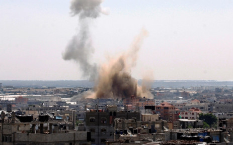 Smoke billows following an Israeli air strike in Rafah in the southern of Gaza Strip, in August 2014. Picture: AFP
