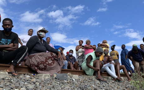 Residents of the Lockdown informal settlement say they will not move off the railway line until they receive alternative housing. Picture: Kaylynn Palm/Eyewitness News