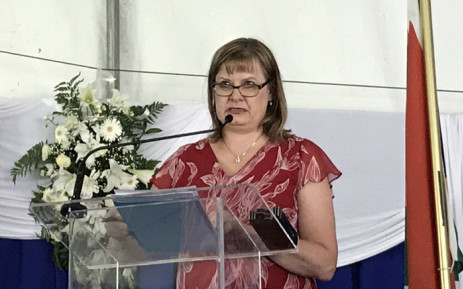Western Cape Education MEC Debbie Schäfer addresses guests at the 2018 National Senior Certificate Awards at Leeuwenhof on January 2019. Picture: Kevin Brandt/EWN