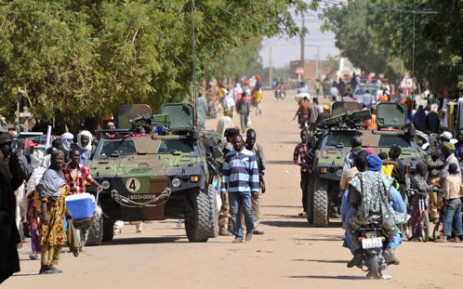 French troops patrol in the streets of Gao on February 3, 2013. Picture: AFP / Sia Kambou
