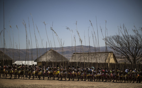 FILE: Ceremonial reeds are carried by maidens during the reed dance ceremony in September 2014 at the eNyokeni Royal Palace in Nongoma. Picture: AFP.