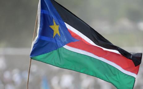 South Sudan flag. Picture: AFP.
