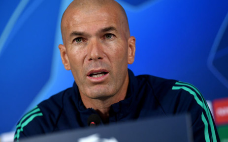Real Madrid coach Zinedine Zidane attends a press conference at the TT Ali Samiyen sports complex, on the eve of the UEFA Champions League Group A football match between Galatasaray and Real Madrid in Istanbul, on 21 October 2019. Picture: AFP