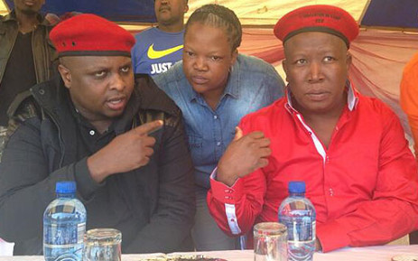 FILE:The Economic Freedom Fighters holds a rally in Sebokeng on 13 July 2013. Picture: Lesego Ngobeni/EWN