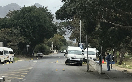 FILE: Hout Bay Main Road following a shooting at a taxi rank on 1 April 2019. Picture: Shamiela Fisher/EWN.