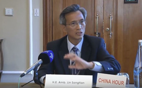 FILE: Chinese ambassador Lin Songtian on Sunday 4 February 2018. Picture: Screengrab