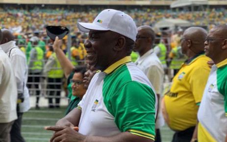 President Cyril Ramaphosa at the launch of the ANC's elections manifesto at the Moses Mabhida Stadium in Durban on 12 January 2019. Picture: Supplied