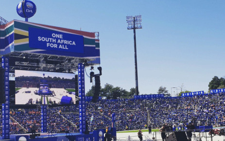 Democratic Alliance (DA) supporters at the Rand Stadium for the party's manifesto's launch. Picture: @Our_DA/Twitter.