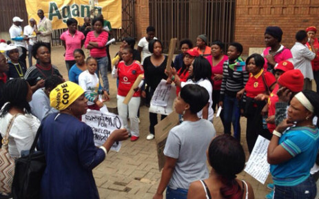 Diepsloot residents outside court. Picture: Lesego Ngobeni/EWN