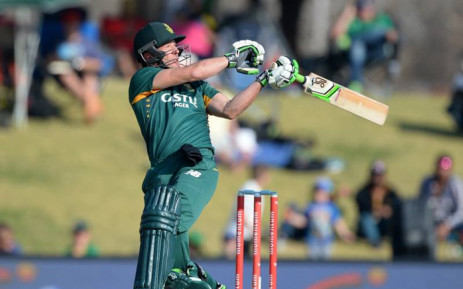 AB de Villiers who became the fastest player to score 8,000 ODI runs against New Zealand on 26 August 2015. Picture: CSA/Facebook page.