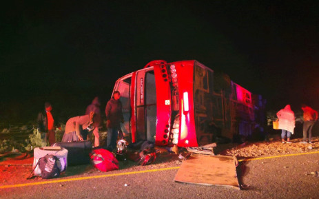 A bus crashed on the R61 near Beaufort West. Picture: Kenny Africa.