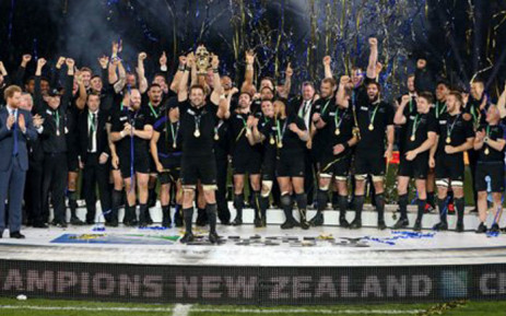 Dan Carter led New Zealand to win the 2015 Rugby World Cup for the third time by beating Australia on 31 October, 2015 at Twickenham. Picture: Twitter @AllBlacks.