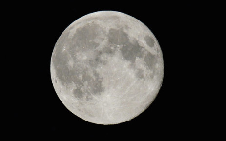 A full moon is seen in the sky near Liverpool, in north-west England, in the early hours of 24 June 2013. Picture: AFP