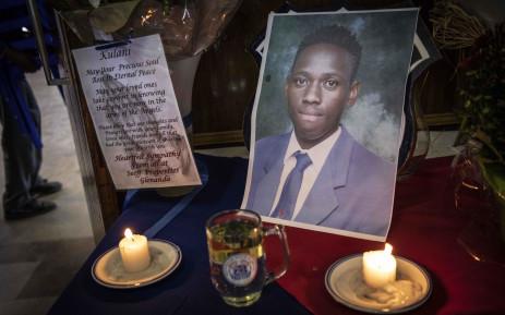 The memorial service of fatally stabbed pupil Kulani Mathebula. Picture: Abigail Javier/EWN