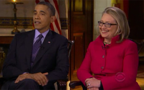 US President Barack Obama and Hilary Clinton. Picture: Newsource.