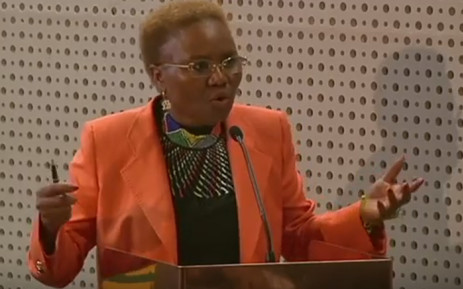 FILE: Minister of Small Business Development Lindiwe Zulu. Picture: YouTube Screengrab.
