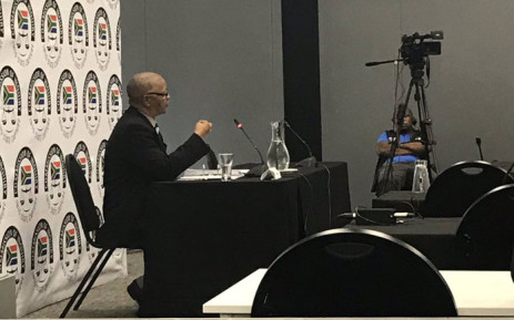 Cope spokesperson Dennis Bloem appears at the Zondo Commission of inquiry into state capture on 1 February 2019. Picture: EWN