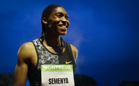 South African Caster Semenya reacts after winning in the women's 2000m race during the France's LNA (athletics national association) Pro Athle Tour meeting on 11 June 2019 at the Jean-Delbert stadium in Montreuil. Picture: AFP
