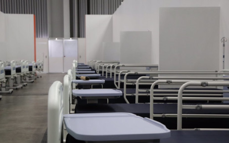 A row of beds at the CTICC COVID-19 field hospital. Image: Premier Alan Winde/Twitter