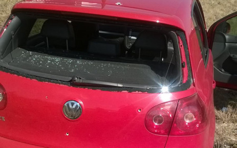 Red Golf used by suspects believed to have been involved in the killing of two cops in Dobsonville. Two of the suspects were fatally wounded on 10 September 2015, a day after teh cops were killed. Picture: @SAPoliceService.