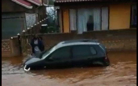 A screengrab of an area in Sebokeng which has been flooded after heavy rain on 30 December 2018.