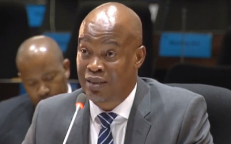 A screengrab of former executive head of IT at the Public Investment Corporation Luyanda Ntuane testifying at the PIC inquiry on 5 March 2019.