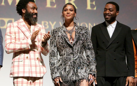 Donald Glover, Beyonce Knowles-Carter, and Chiwetel Ejiofor attend the World Premiere of Disney's 'The Lion King' at the Dolby Theatre on 9 July 2019 in Hollywood, California. Picture: AFP
